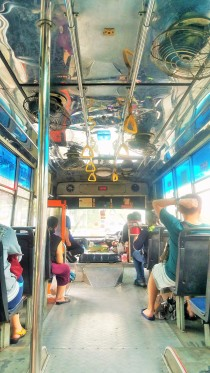 Just jump on one of the many buses to get your self around on the cheap.